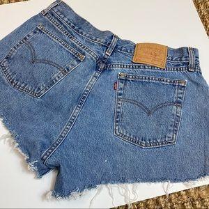 Levi Strauss blue jean cut off shorts 14 vintage